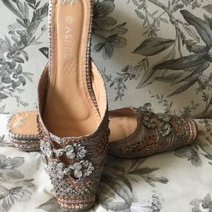 ASHRO | Silk and Sequin Ballet Slipper Style Mules